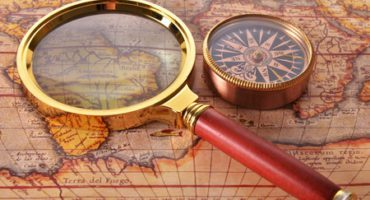 35823004 - map and magnifying glass